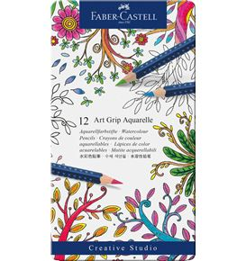 Faber-Castell - Watercolour pencil Art Grip Aquarelle tin of 12
