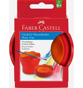 Faber-Castell - Clic&Go water cup, red