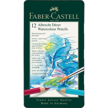 Faber-Castell - Albrecht Dürer watercolour pencil, tin of 12