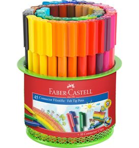 Faber-Castell - Fibre-tip pen Connector mesh box 45 pcs.