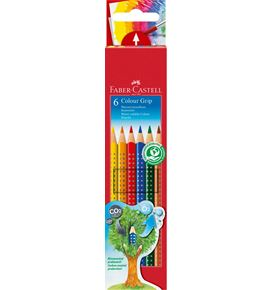 Faber-Castell - Colour Grip colour pencil, cardboard wallet of 6