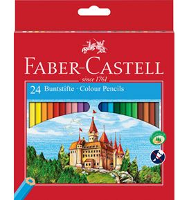 Faber-Castell - Classic Colour colour pencil, cardboard wallet of 24