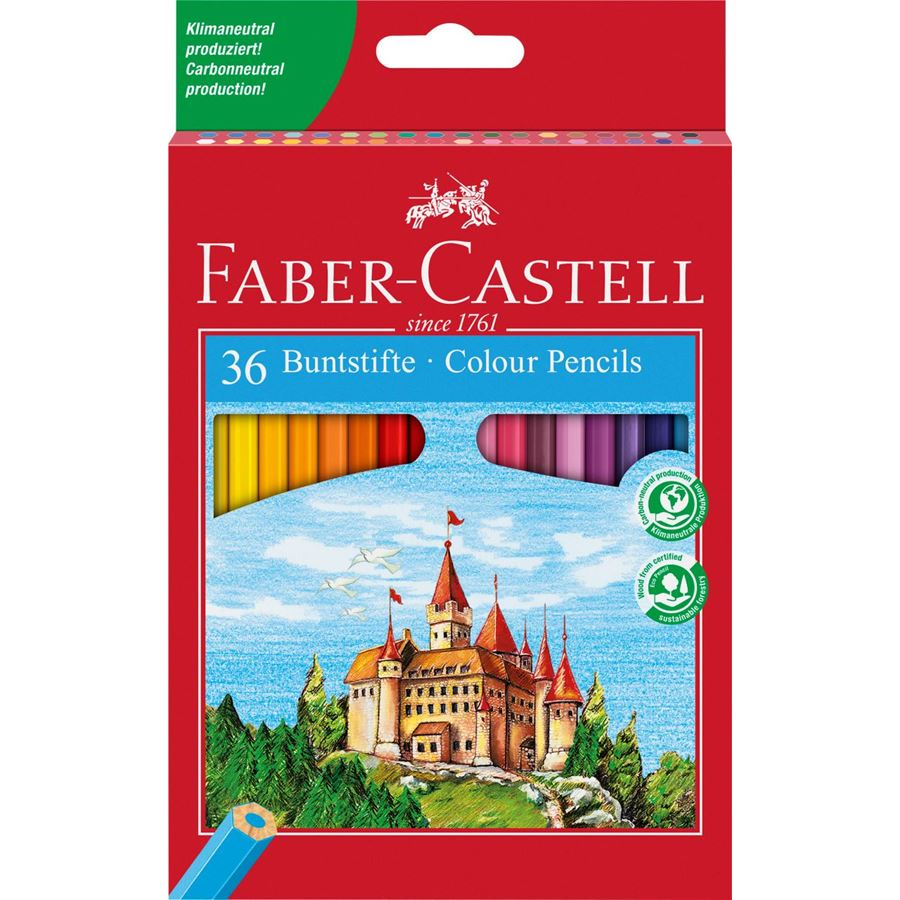 Faber-Castell - Classic Colour colour pencil, cardboard wallet of 36