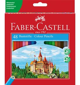 Faber-Castell - Classic Colour colour pencil, cardboard wallet of 48