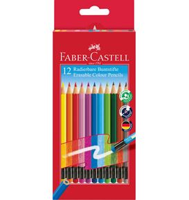 Faber-Castell - Classic Colours erasable colour pencils, wallet of 12
