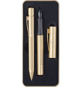 Faber-Castell - Grip Edition fountain pen, gift set, gold, 2 pieces