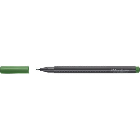 Faber-Castell - Grip Finepen, 0.4, permanent green olive