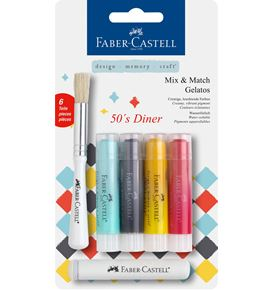 Faber-Castell - Watersoluble crayons Gelatos 50´s Diner 6ct set