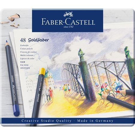Faber-Castell - Goldfaber colour pencil, tin of 48