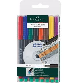 Faber-Castell - Marker Multimark permanent F wallet of 8