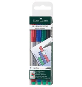 Faber-Castell - Marker Multimark non-permanent S wallet of 4