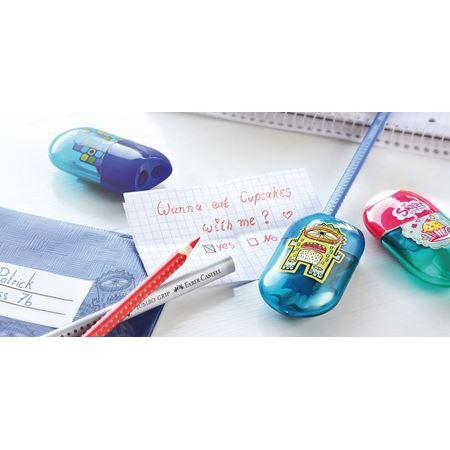 Faber-Castell - Double hole sharpener cupcake including eraser
