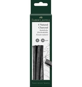 Faber-Castell - Pitt natural charcoal stick, 9-15 mm