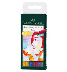 Faber-Castell - India ink Pitt Artist Pen B box of 6