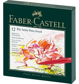 Faber-Castell - India ink Pitt Artist Pen B studio box of 12