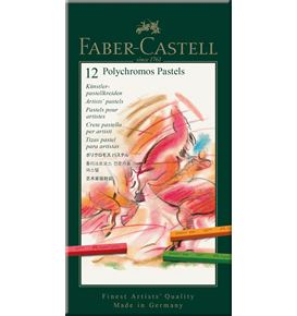 Faber-Castell - Pastel crayon Polychromos tin of 12