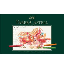 Faber-Castell - Pastel crayon Polychromos box of 36