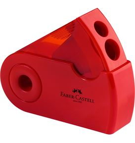 Faber-Castell - Sleeve twin sharpening box, red/blue, sorted