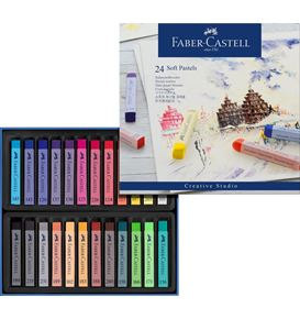 Faber-Castell - Soft pastels cardboard box of 24