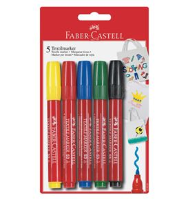 Faber-Castell - Textile marker blister card of 5